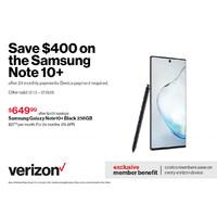 Costco - Verizon: get $350 - $500 off select Samsung Galaxy phones!