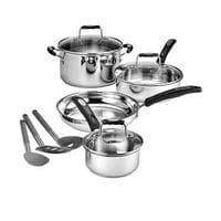 Cuisinart Stainless Steel Cookware Set, 10pcs