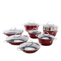 Curtis Stone Dura-Pan Nonstick 15pc. Nesting Cookware Set Now $179.97