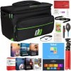 Deco Gear Camera Bag for DSLR Mirrorless Cameras (Large) + Software & Accessory Bundle