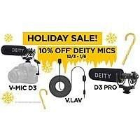 Deity V-Mic D3 Pro $149.99.. Deity Microphones 15% off pro, 10% off other microphones + Google Shopping DECSAV19 20% off.