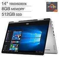 "Dell Inspiron 14 5000 2-in-1 Laptop: Ryzen 7 3700U, 14"" 1080p IPS Touchscreen, 8GB DDR4, 512GB SSD, Vega 10, Win 10 $499.99 + Shipping @ Costco"
