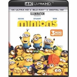 Despicable Me, Despicable Me 2, Minions (4K + Blu-ray + Digital)  $10 each + Free Store Pickup