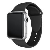 Double Rivets Silicone Watch Band for Apple Watch Series 3, 2 & 1 38mm - Black Now $4.45