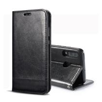 Double-Sided Absorption Splicing Horizontal Flip Leather Case for Huawei P30 Lite - Black Now $3.06