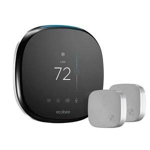 ecobee 4 Smart Thermostat w/ 2 Room Sensors