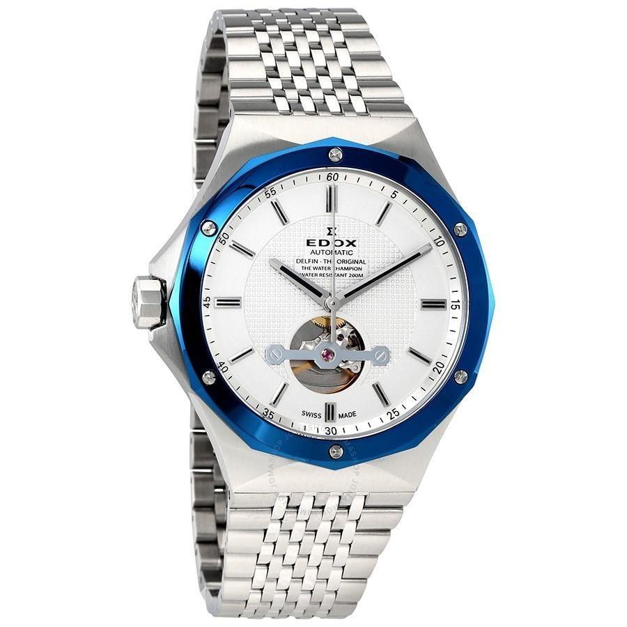 EDOX Delfin Open Heart Automatic Men's Watch $469 + free s/h
