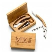 Engraved Bamboo Wine Tool Set Now $34.95