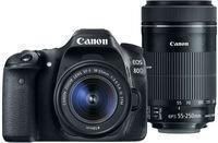 EOS 80D Camera + EF-S 18-55 & EF-S 55-250 Lens (Refurb)