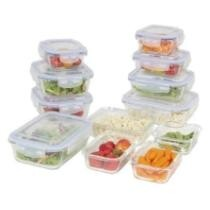 Extra 10% off BCP Assorted Glass Food Container Storage Set w/ BPA-Free Lids