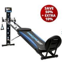 Extra 10% off Total Gym XLS + Free Pilates Kit + Free Pilates DVD + Free Rosalie Brown 3-DVD Set & Fitspiration Guide