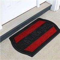 "FH Group 18""x30"" Outdoor Durable Rubber Mat w/ Carpet $8.17"