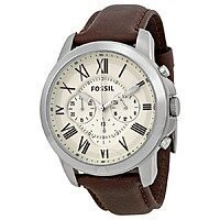 Fossil Men's Grant Chronograph Watch w/ Leather Strap