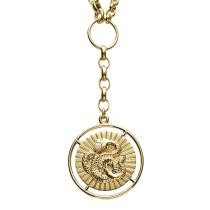 Foundrae - Large Wholeness Medallion on Mixed Belcher Necklace Now $7395