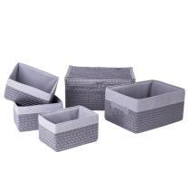 Frans Grey Set of 5 Storage Basket Sets Now $29.99