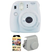 Fujifilm Instax Mini 9 Instant Film Camera w/ Instant Film and Case $52.95