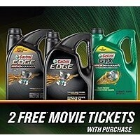 Get 2x Fandango Movie Tickets w/ Purchase of 5-Qt. Castrol Edge Motor Oil