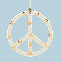 Gold Dotted Peace Sign Ornament $7.95 (81% OFF)