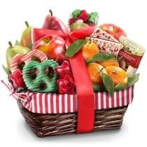 Holiday Deluxe Fruit, Nut & Treats Gift Basket Now $42.98 + Free Shipping