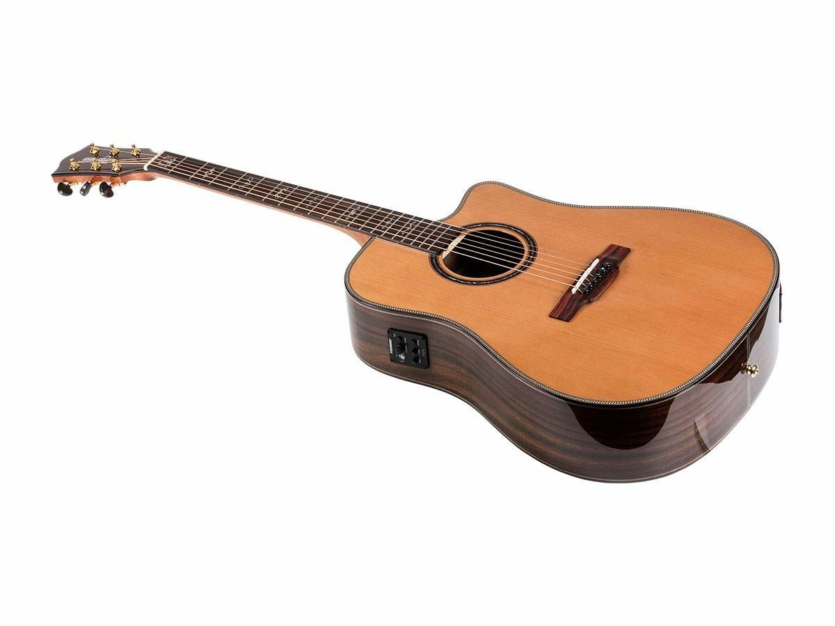Idyllwild Cedar Solid Top Acoustic Electric Guitar w/ Fishman Pickup Tuner and Gig Bag - $158.07 AC w/ FREE Shipping