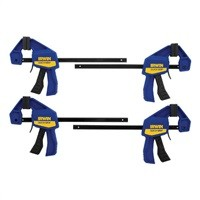 """Irwin 6"""" Quick-Grip One-Handed Mini Bar Clamp (4-Pack) $19.99"""