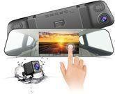 Jeemak 1080p Mirror Dash Cam w/ Backup Camera