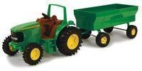 "John Deere Toy Tractor Set 8"" Tractor w/ Flarebox Wagon"