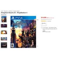 Kingdom Hearts III (PS4) - $14.99