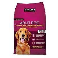 Kirkland Signature Adult Formula Chicken, Rice and Vegetable Dog Food 40 lb.[ 40.99 - 8 ] $32.99