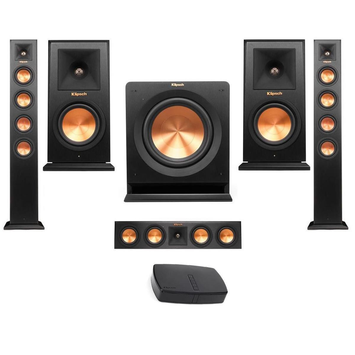 Klipsch Premiere HD Wireless Speakers: (pair) RP-440WF Floors + RP-440WC Center + RP-110WSW Sub + RP-140WM Book $1499 + free shipping