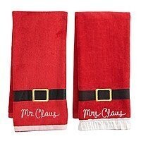 Kohls Cardholders: The Big One: 2-Pack Christmas Embroidered Hand Towel $4.15 + Free Shipping