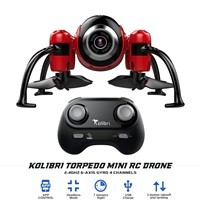 Kolibri Torpedo Mini RC Drone w/ 480P Camera $29.99