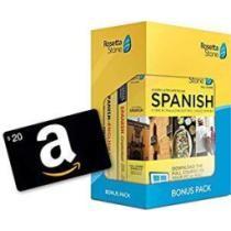 Learn Spanish: Rosetta Stone Bonus Pack w/ $20 Amazon Gift Card Now $139