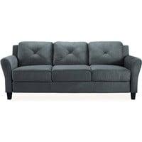 "Lifestyle Solution Taryn 78.75"" Curved-Arm Sofa $219"