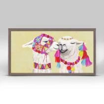 Llama Pair w/ Poms Mini Framed Canvas Now $29.98