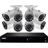 Lorex 16-Channel 4K UHD NVR w/ 3TB HDD & 8 5MP Night Vision Bullet Cameras $649.97