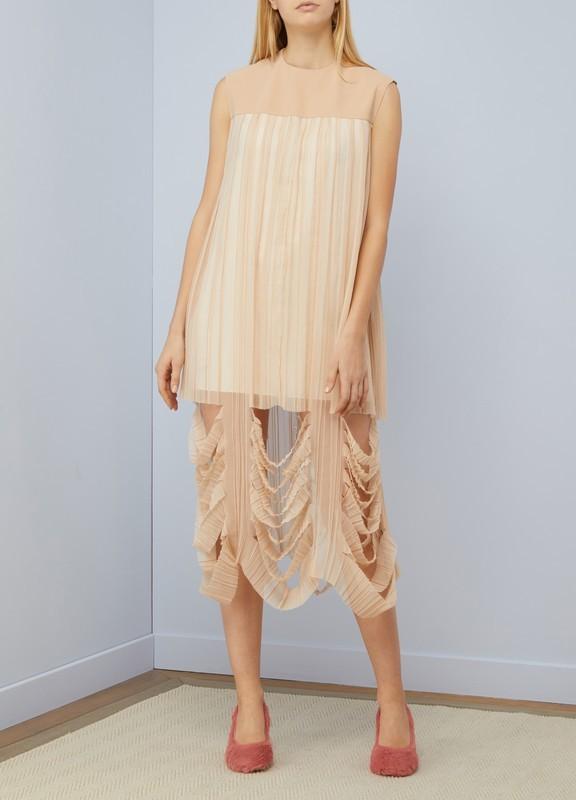 Maison Margiela Sale: Silk dress Nude 80% off