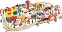 Maxim Wooden Train Set, 145-Pieces