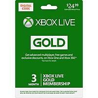 Microsoft - Xbox Live 6 Month Gold Membership [Digital] for $24.99
