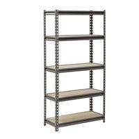 "Muscle Rack 60"" x 30"" x 12"" 5-Shelf Z-Beam Boltless Steel Shelving Unit $34.98"