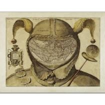 Mysterious 'Fool's Cap Map' Of The World Poster or Canvas Now $9.99 + Free Shipping