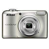 Nikon COOLPIX A10 16MP Digital Camera, Silver (Refurbished) w/ free case $39.95