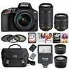 Nikon D3500 DX-Format DSLR Camera w/ AF-P 18-55mm VR and 70-300mm Lenses Bundle $399.95, more