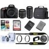 Nikon D5600 DSLR w/18-55mm f/3.5-5.6G VR70-300/4.5-5.6 Black w/Free Acc Bundle