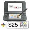 Nintendo 3DS XL (New Black) - REFURBISHED + WARRANTY + $25 eBay Bonus