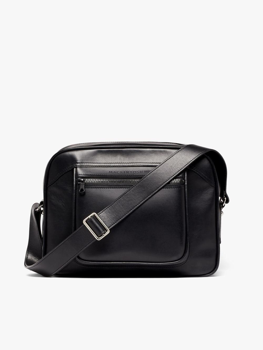 On Sale: Black Leather 0003 Bowling Bag