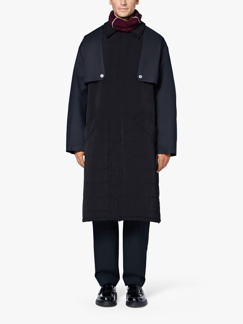 On Sale: Black Padded 0003 Trench Coat