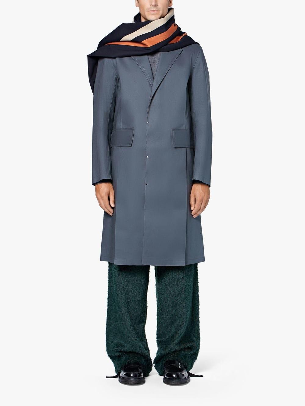 On Sale: Grey Bonded Cotton 0003 Pocket Vent Coat