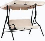 Outdoor Patio Swing w/ Canopy
