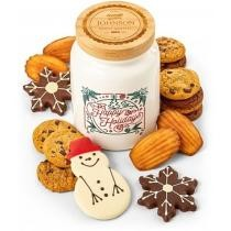 Personalized Happy Holidays Cookie Jar & Cookies Now $49.95